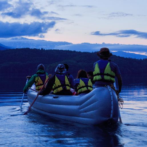 湖上ホタルツアー