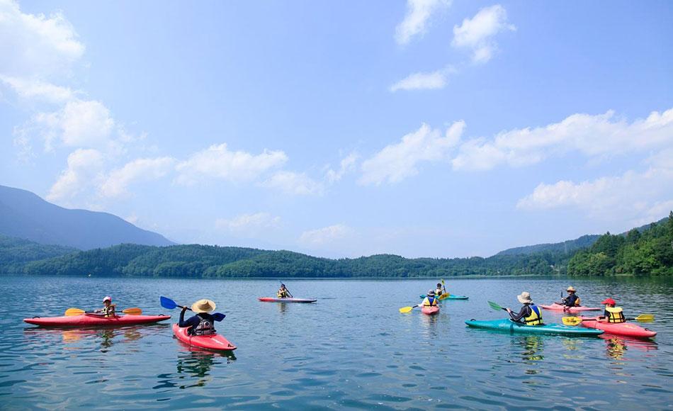 青木湖カヤック