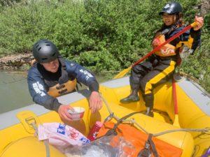 春の姫川河川清掃&ガイドトレーニング