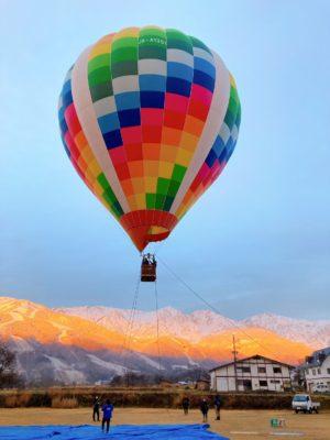 今朝の熱気球