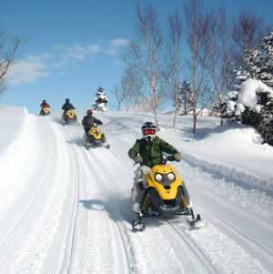 Snowmobile Tour in Shiga Kogen